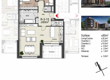 Chatham BLOCK B  -  2 Zimmer