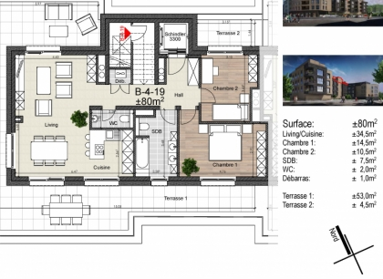 Chatham BLOC B  -  2 chambres
