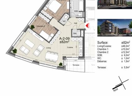 Ettelbruck appartement 2 chambres